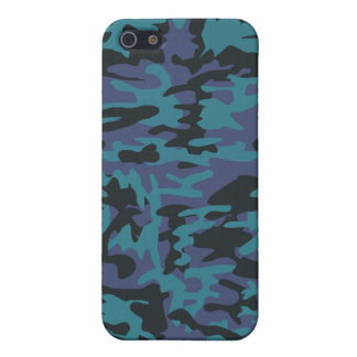 Blue camo pattern iPhone 5 case