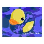Blue Camo Rubber Ducky Postcard