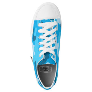 Blue Camo shoes, trendy camouflage sneaker