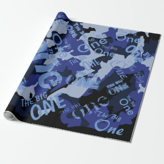 """Blue Camo, The Big One Wrapping Paper 30"""" x 6'"""
