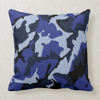 """Blue Camo, Throw Pillow 20"""" x 20"""""""