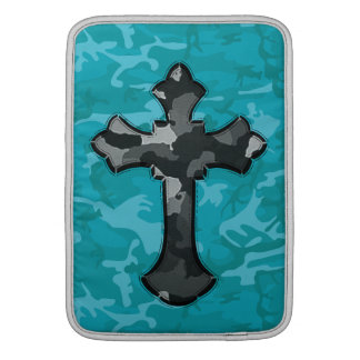 Blue Camo with Cross Sleeve For MacBook Air