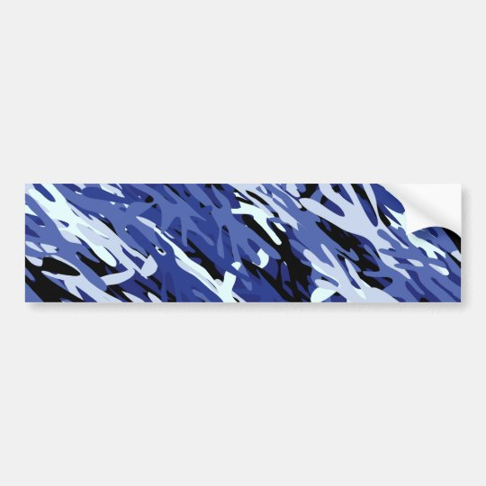 Blue Camouflage Bumper Sticker