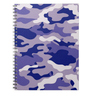 Blue Camouflage Camo texture Notebooks
