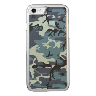 Blue Camouflage Carved iPhone 8/7 Case