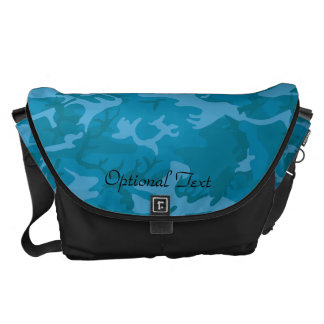 Blue Camouflage Commuter Bag