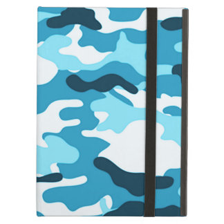 Blue Camouflage Cover For iPad Air