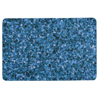 Blue Camouflage Floor Mat