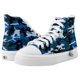 Blue Camouflage high tops