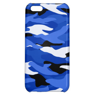 Blue camouflage iPhone 5C case