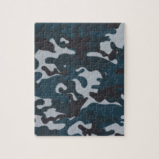Blue Camouflage Jigsaw Puzzle