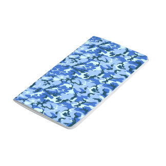 Blue Camouflage Military Background Journal