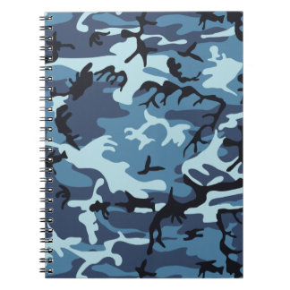 Blue Camouflage Notebook