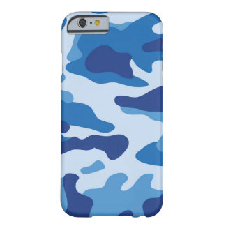 Blue  Camouflage Pattern Barely There iPhone 6 Case