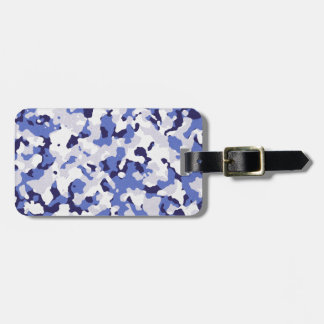 Blue camouflage pattern luggage tag