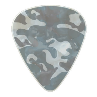 Blue Camouflage Pearl Celluloid Guitar Pick