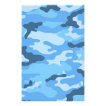 Blue Camouflage Scrapbook Crafting Paper Stationery Design
