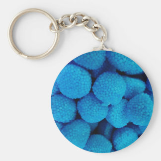 Blue Candy Basic Round Button Key Ring