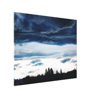 Blue Candy Floss Clouds New Zealand Canvas Print