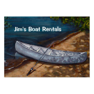 Blue Canoe Painting Boat Rental Business Business Card Templates
