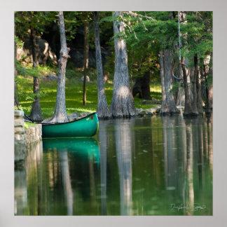Blue Canoe Print