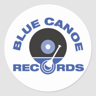 Blue Canoe Stickers