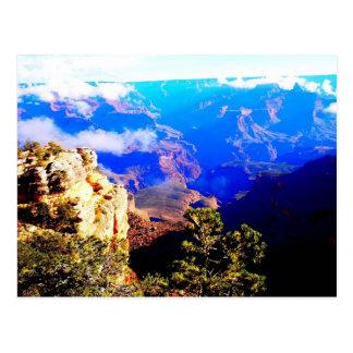 Blue Canyon Clouds Postcard