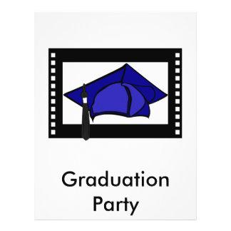 Blue Cap Black Tassel Personalized Flyer