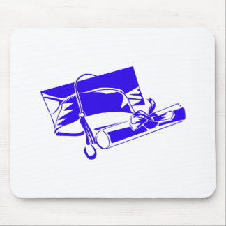 Blue Cap Diploma Mouse Pads