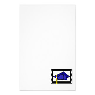 Blue Cap Gold Tassel Stationery Paper