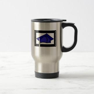 Blue Cap Silver Tassel Mugs