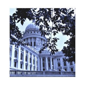 Blue Capitol Canvas Print