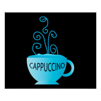 Blue Cappuccino Delight Posters