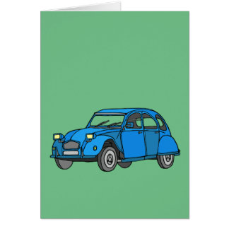 Blue Car (2CV) Card