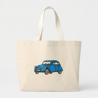 Blue Car (2CV) Jumbo Tote Bag