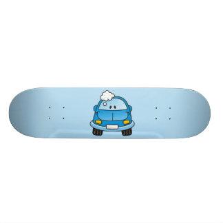 Blue car with bubbles custom skateboard