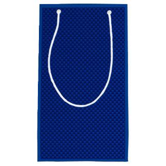 Blue Carbon Fiber Like Print Decor Small Gift Bag