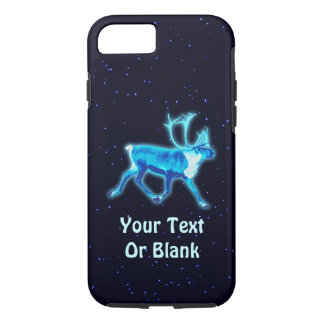 Blue Caribou (Reindeer) iPhone 7 Case