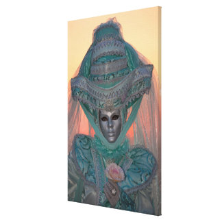 Blue Carnival Costume, Venice Canvas Print