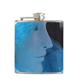 Blue Carnivale Masquerade Hip Flasks