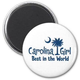Blue Carolina Girl Best in the World Magnet