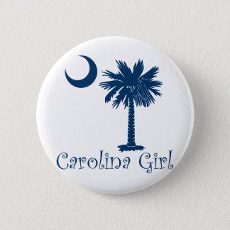Blue Carolina Girl Palmetto 6 Cm Round Badge