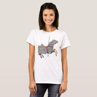 Blue Carousel Horse T-Shirt