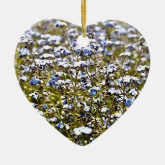 Blue Carpet Ceramic Heart Decoration