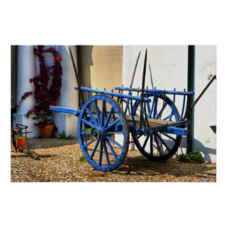 Blue cart posters