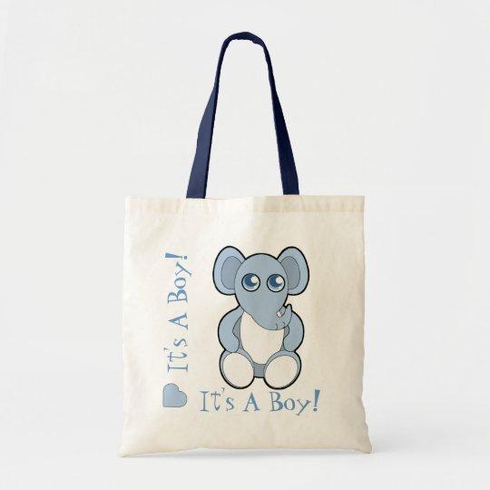 Blue Cartoon Baby Elephant New Mummy Bag