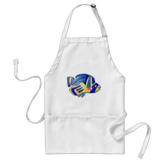 Blue Cartoon Butterfly Fish Aprons