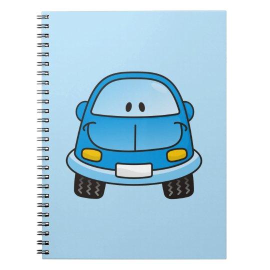 Blue cartoon car notebook