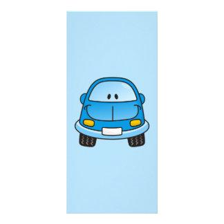Blue cartoon car rack cards