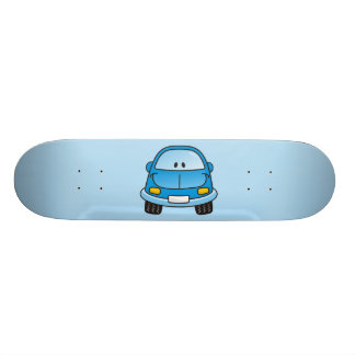 Blue cartoon car skateboard decks